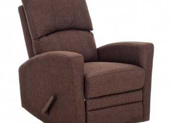 Confortevole My Living, Poltrona Relax Reclinabile Manuale Rivestimento In Tessuto My Living Mamy Marrone, EPRICE