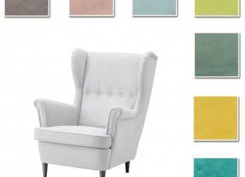 Fresco Custom Made Cover Fits IKEA Strandmon Armchair, Chair Cover, Velvet Fabric, EBay
