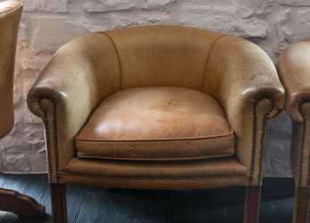 Trending AREADOCKS RESEARCH Armchair Caramel Leather Vintage Areadocks Research
